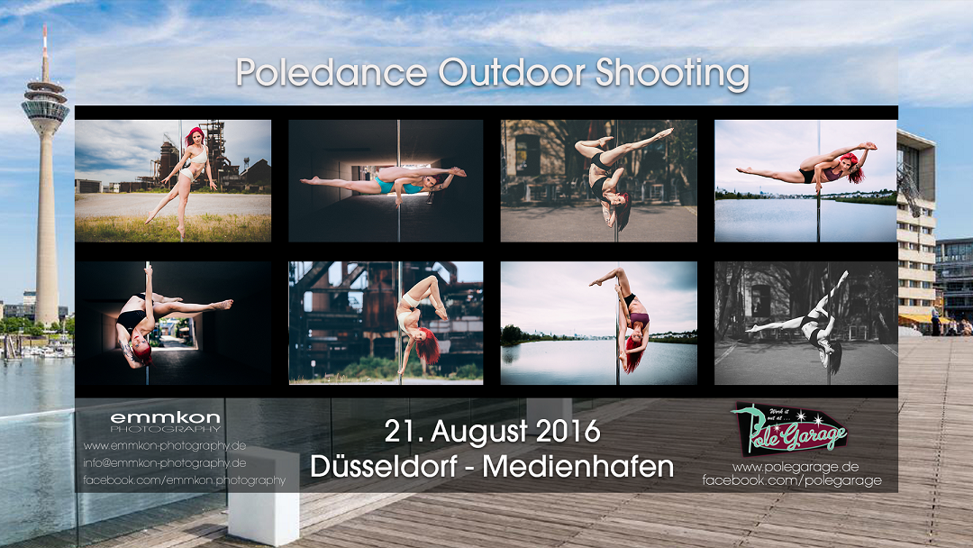 Poledance Outdoor Shooting with emmkon photography at Medienhafen Düsseldorf