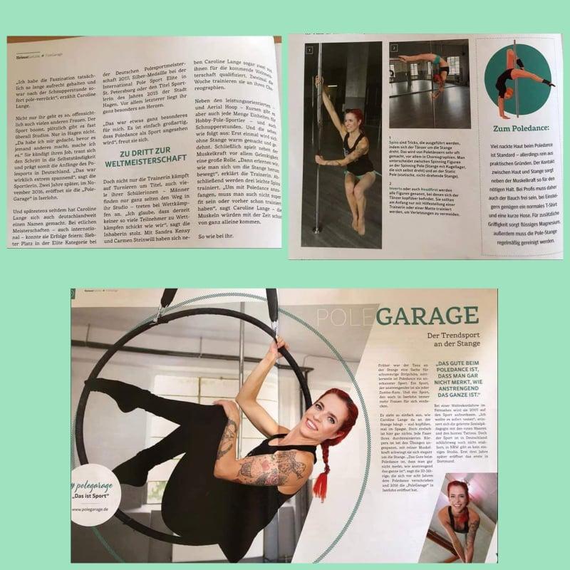 Zeitungsbericht über die Pole Garage in Iserlohn in der IKZ Heimatgefühle am 5.10.18